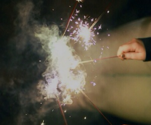light, fireworks, and friends image