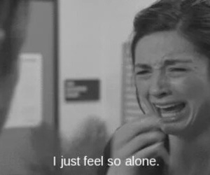 alone, sad, and teen wolf image
