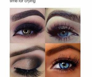 makeup, mascara, and funny image