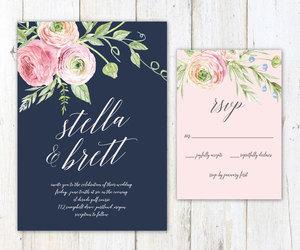 botanical, wedding invitation, and etsy image
