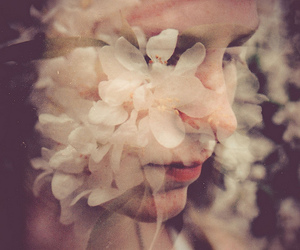 vintage, flowers, and girl image