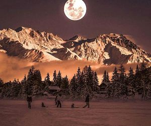 mountains, snow, and switzerland image