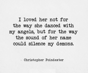 quote, demons, and love image