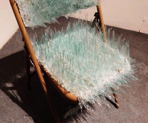 chair, glass, and hate image