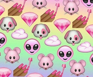 emojis, pink, and emoji image