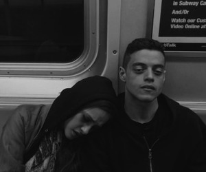 carly chaikin, rami malek, and angela moss image