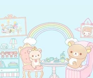 cute, bears, and rainbow image