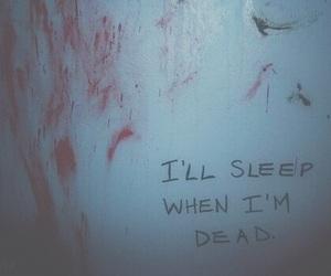 dead, sleep, and blood image
