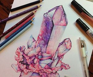 art, crystal, and yes image