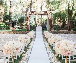 archway, wedding, and white image