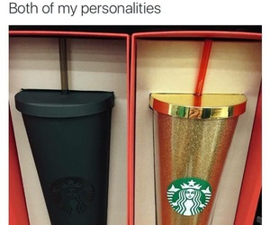 starbucks, black, and gold image