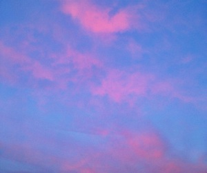 blue, clouds, and cotton candy image