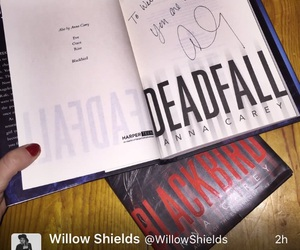 blackbird, books, and willow shields image