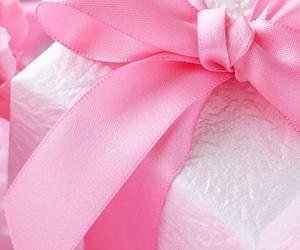 gift, pink, and ribbon image