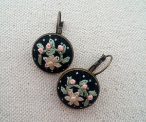 etsy, pastel colors, and flower earrings image