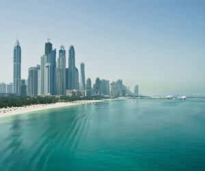 Dubai, beach, and company image