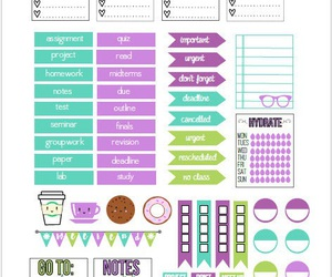 printable, stickers, and organization stickers image