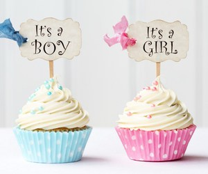 cupcake, blue, and boy image