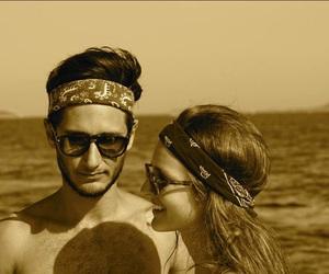 bandanas, couple, and girl image