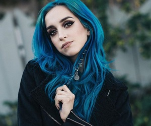 blue hair, fashion, and girl image