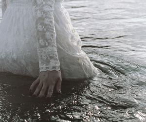 water, dress, and white image