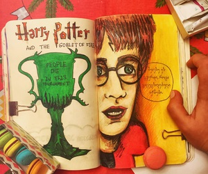 art, goblet of fire, and harry potter image