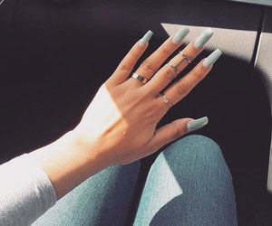 nails, blue, and accessories image