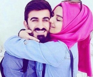 couple, islamic, and wife image