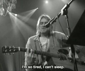nirvana, kurt cobain, and tired image