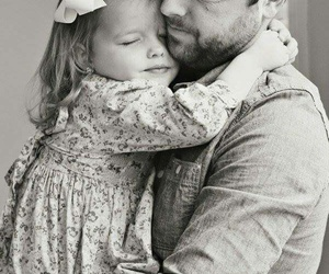 love, baby, and dad image