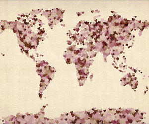 world, country, and heart image