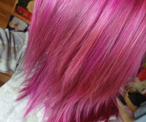 directions, hair, and pink image
