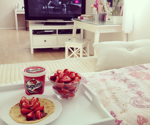 strawberry, food, and room image