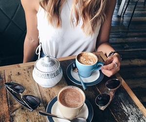 coffee, tumblr, and white girl image