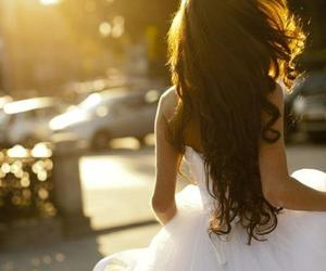 girl, dress, and hair image