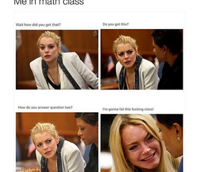 funny, math, and lindsay lohan image