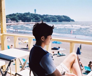 actors, beach, and boy image