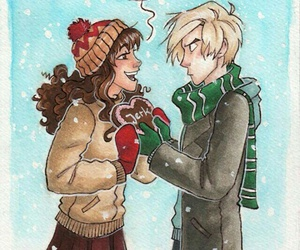 dramione, hermione, and draco malfoy image