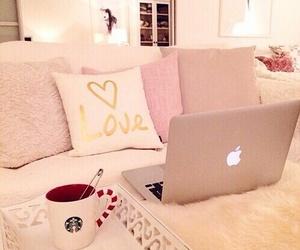 pink, room, and starbucks image