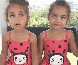 girl, twins, and kids image