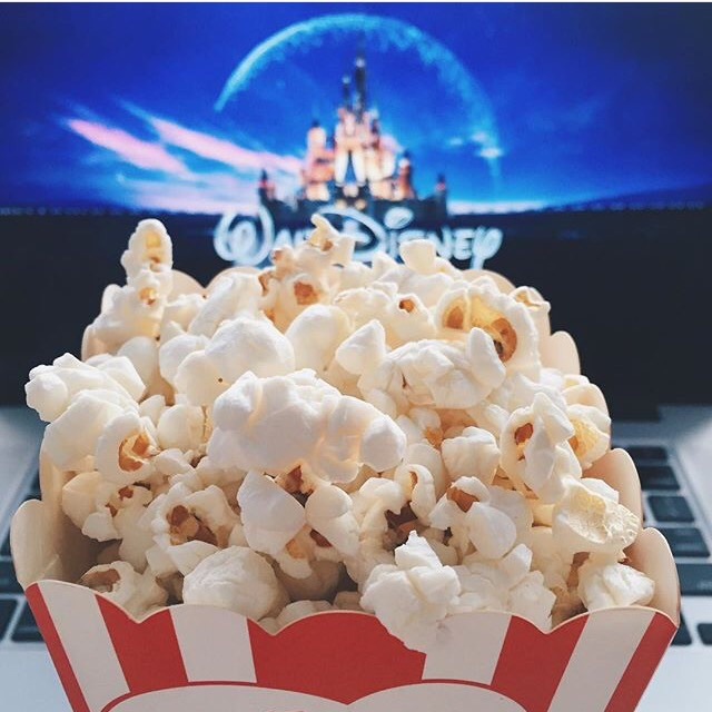 disney, popcorn, and tumblr image