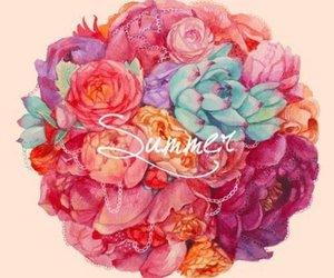 summer, flowers, and love image