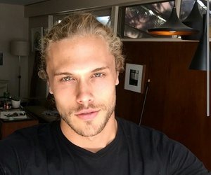 blonde, green eyes, and Hot image