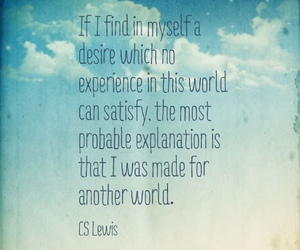 blue, clouds, and cs lewis image