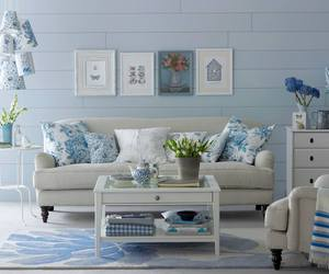 blue, living, and room image