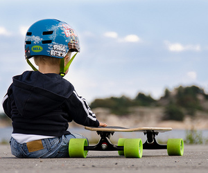 baby, skate, and photography image
