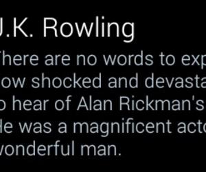 alan rickman, harry potter, and twitter image