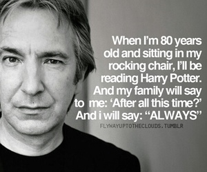 alan rickman, harry potter, and snape image
