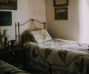 vintage, bed, and bedroom image