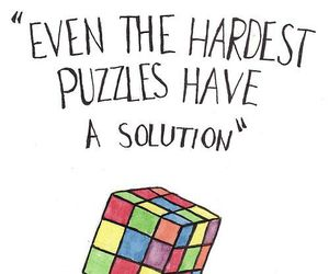 puzzle, solution, and quote image